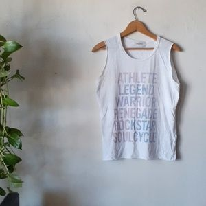 Soulcycle tank top white athletic graphic S